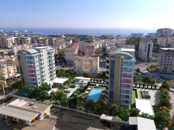 Квартиры в Алании рядом с песчаным пляжем, купить квартиру в Алания
