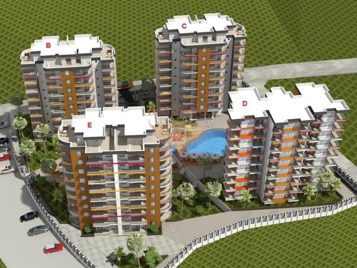 Квартиры 1+1 в Алании, с отоплением, Квартира в Алания Турция