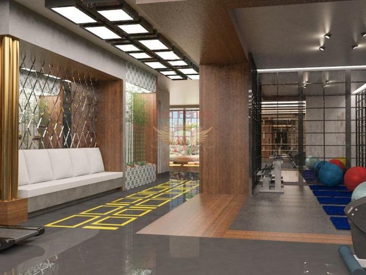 Квартиры 1+1 в Алании, с отоплением, купить квартиру в Алания