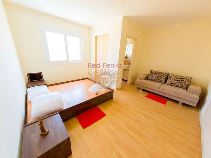 Квартира 3 + 1 + общий бассейн + СПА-центр + песчаный пляж + Титул до 74 лет в Турции, купить квартиру в Фамагуста
