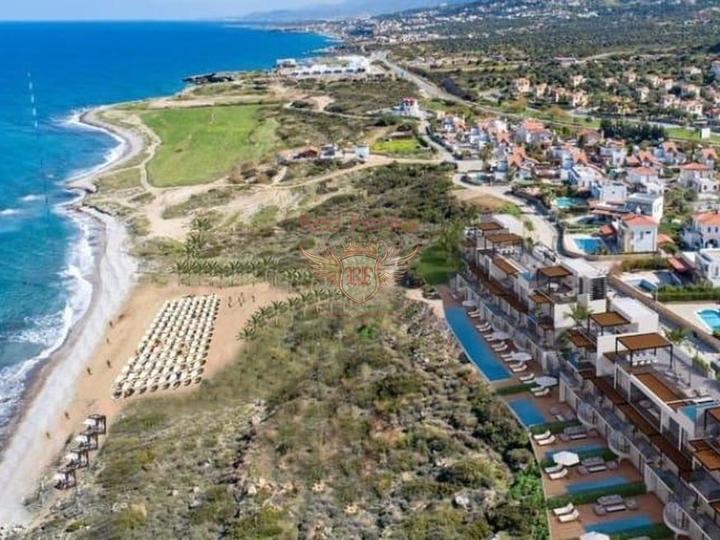 Современные апартаменты с 3 спальнями + частный бассейн + пешая доступность до моря, купить квартиру в Кирения