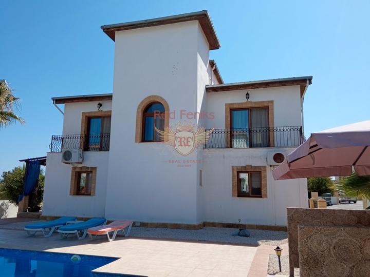 Вилла с тремя спальнями + бассейн 8м х 4м + кондиционеры, купить виллу в Кирения