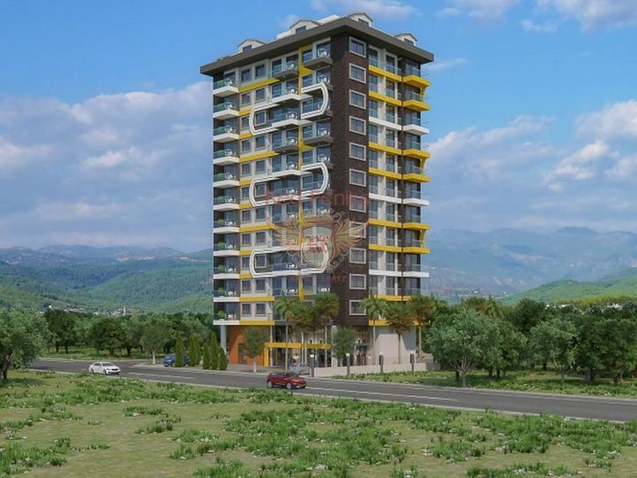 Резиденция расположена в Центральной части Махмутлара, популярного курортного района Аланьи.