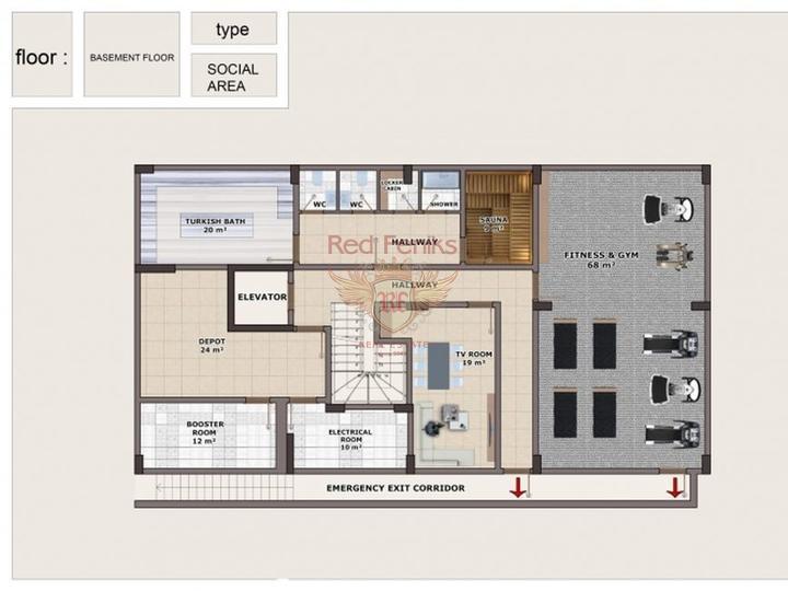 Квартира в Махмутларе, купить квартиру в Алания