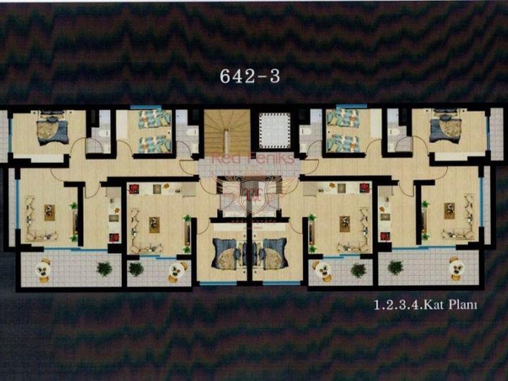 Бюджетная недвижимость квартиры 2+1 в Махмутларе, купить квартиру в Алания