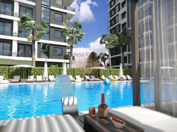 Односпальный пентхаус + меблировка + 3 бассейна + кондиционеры + бытовая техника, Квартира в Кирения Северный Кипр