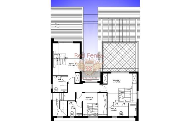 Виллы с 4 спальнями на стадии строительства, купить дом в Кирения
