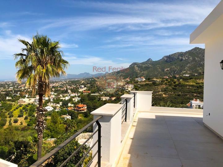 Роскошная вилла с 4 спальнями + новый ремонт + бассейн + вид на море и горы, купить дом в Кирения