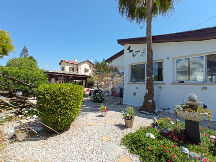 Бунгало с 3 спальнями + гостевой дом с 1 спальней + бассейн, купить дом в Кирения