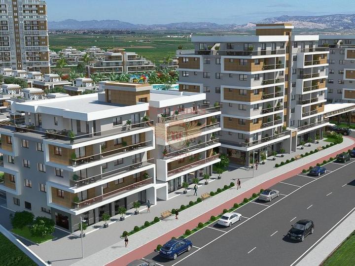Студии класса Люкс + коммунальный бассейн + SPA центр + песчаный пляж + рассрочка + Турецкий титул, купить квартиру в Фамагуста