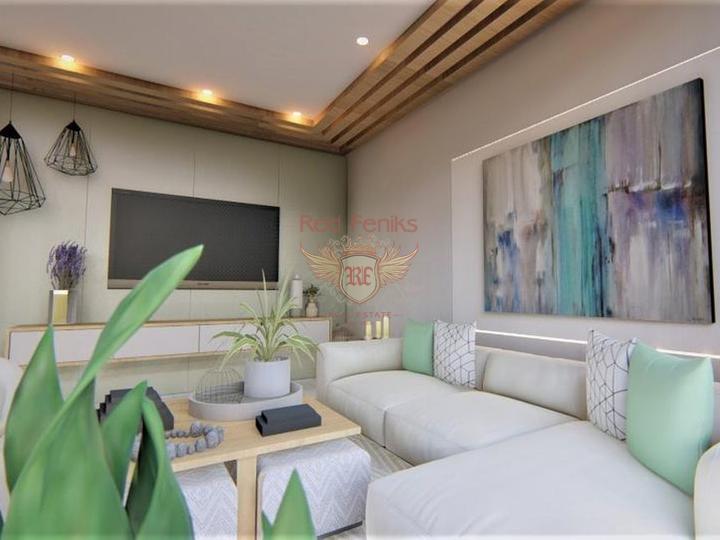 Квартиры 3+1 в Махмутларе на стадии стройки, купить квартиру в Алания
