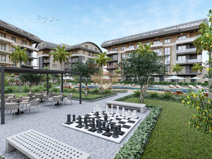 Резиденции - квартиры 1+1 в новом жилом комплексе в Стамбуле, купить квартиру в Стамбул
