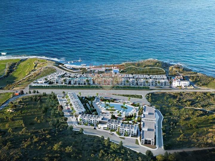 Продается полностью меблированная квартира в жилом комплексе в районе Чалыш города Фетхие.