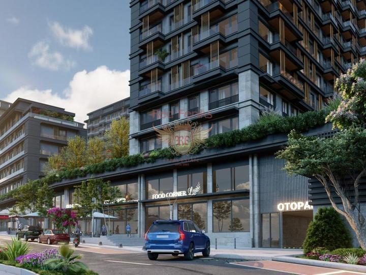 Новый комплекс в Фетхие в Турции в красивом районе Чалыш в 1 км от пляжа.