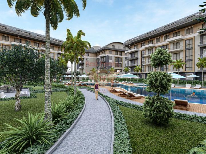 Двухуровневая квартира, расположенная в уютном районе Чалыш в Фетхие.