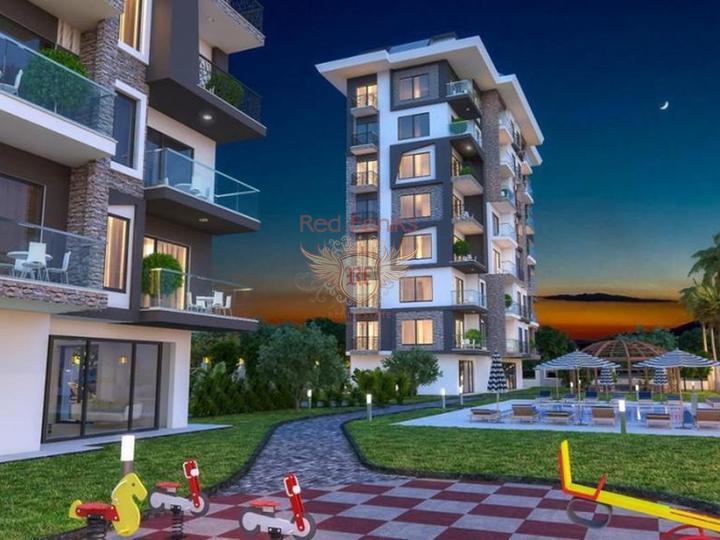 Квартиры 2+1 в новом жилом комплексе в Демирташе. Алания, Квартира в Алания Турция