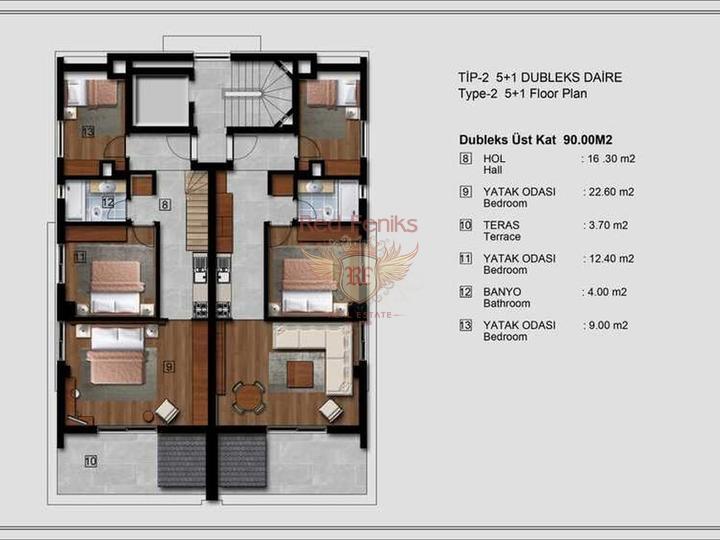 Zu verkaufen Apartment 2 + 1 in Fethiye 200 Meter vom Strand entfernt, Turkey Immobilien, Immobilien in Turkey, Wohnungen in Фетхие