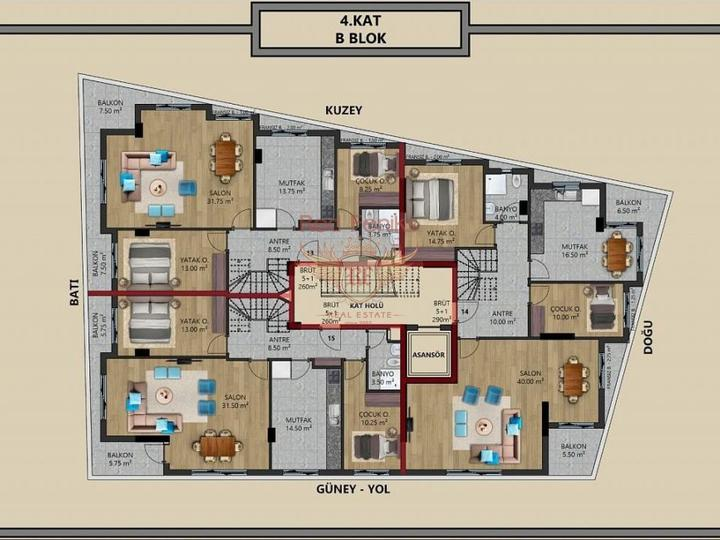 For Sale Apartment 1 + 1 on the first coastline of Fethiye-Calis, Turkey real estate, property in Turkey, flats in Фетхие, apartments in Фетхие