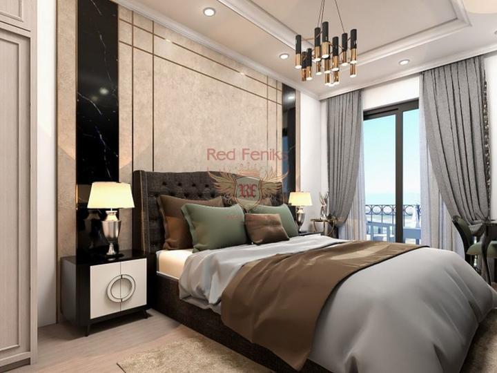 Квартира дуплекс 2+1 с видом на море, купить квартиру в Анталия