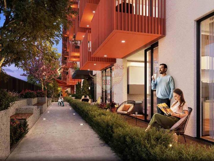 Zu verkaufen Apartment mit 2 Schlafzimmern und 2 Bädern in Fethiye, nur 200 m vom Strand entfernt.