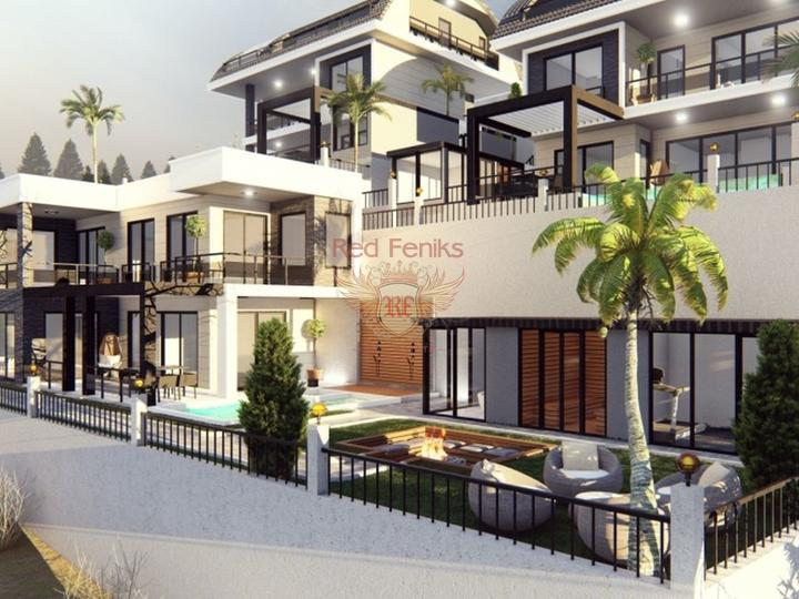 For Sale 1 + 1 apartment in Fethiye, 200 meters from the beach in a modern complex with mountain views.