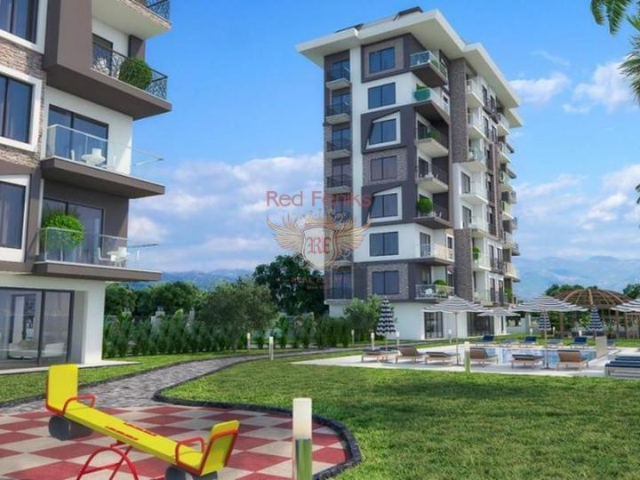 Квартиры 2+1 в новом жилом комплексе в Демирташе. Алания, купить квартиру в Алания