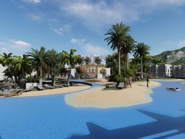 Роскошные апартаменты с 2 спальнями на первой линии моря в Бодруме, Турция, купить квартиру в Бодрум