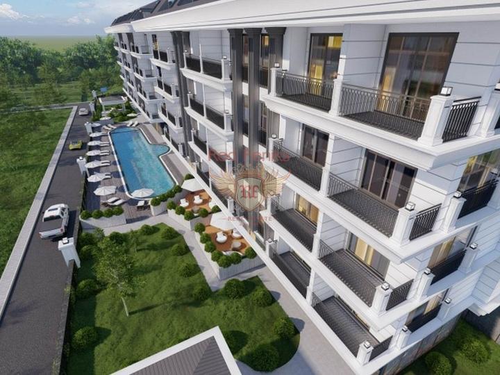 Элитный комплекс с бассейном в живописном районе Анталии, купить квартиру в Анталия