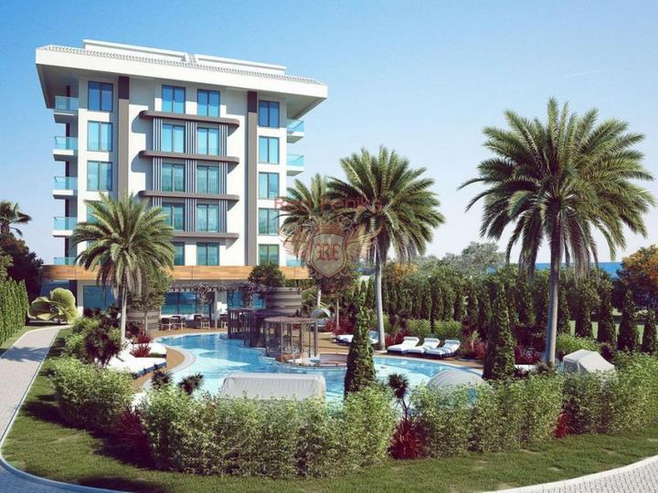 Квартиры 2+1. Новый Жилой комплекс с аквапарком. Дидим, купить квартиру в Алтынкум