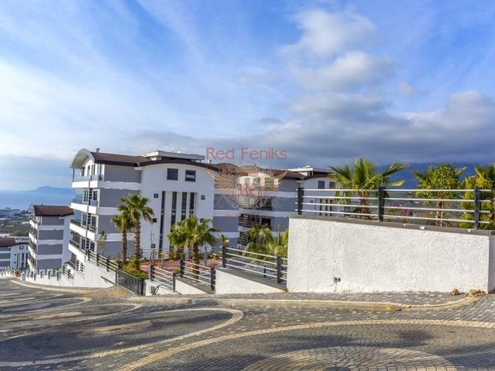 Элитная квартира-дуплекс в Анталии с отдельной кухней, 2+1 в одном из престижных районов Коньяалты.