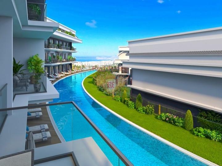 Роскошные апартаменты с 2 спальнями на первой линии моря в Бодруме, Турция, Квартира в Бодрум Турция