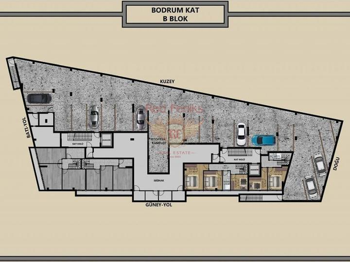 For Sale Apartment 1 + 1 on the first coastline of Fethiye-Calis, apartments for rent in Фетхие buy, apartments for sale in Turkey, flats in Turkey sale