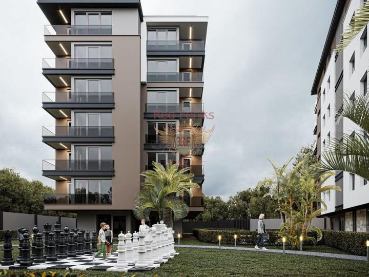 Новый жилой комплекс расположен в курортном городе Даламане на участке 3300 кв.м, Квартира в Даламан Турция