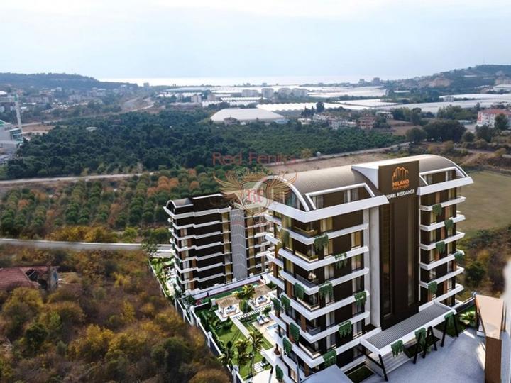 Новая двухуровневая квартира 4+1 в центре Фетхие, Квартира в Фетхие Турция