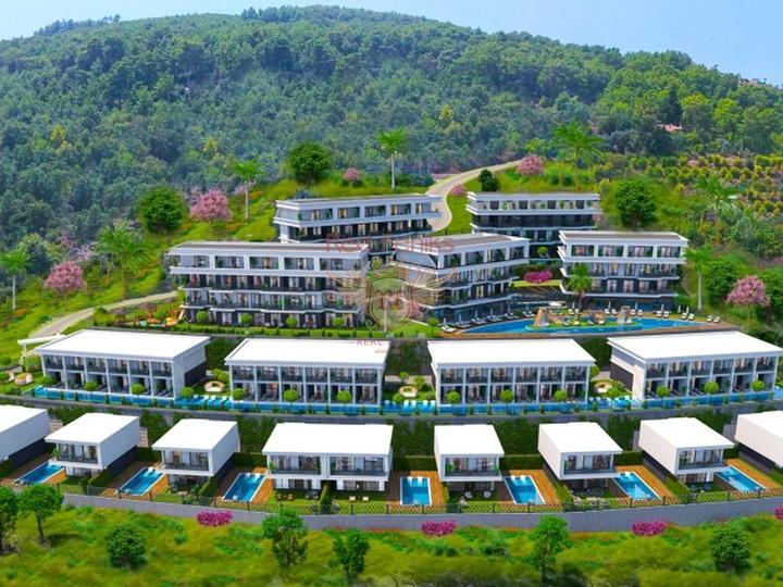 Квартира 3+1 в 10 минутах езды от пляжа Олюдениз. Оваджык, Фетхие, Квартира в Фетхие Турция