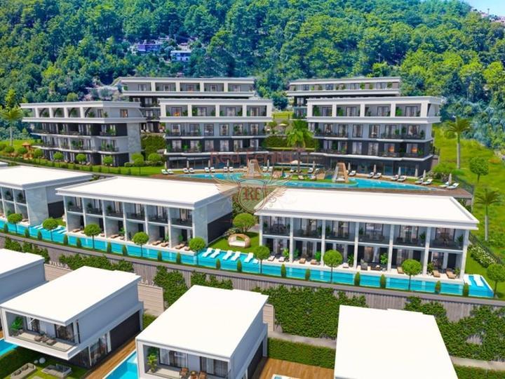 Двухэтажные виллы 4+1 162 кв.м на участке 420 кв.м на стадии строительства с рассрочкой, Вилла в Анталия Турция