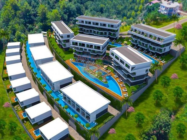 Двухэтажные виллы 4+1 160 кв.м в Белеке на стадии строительства в рассрочку, Вилла в Анталия Турция