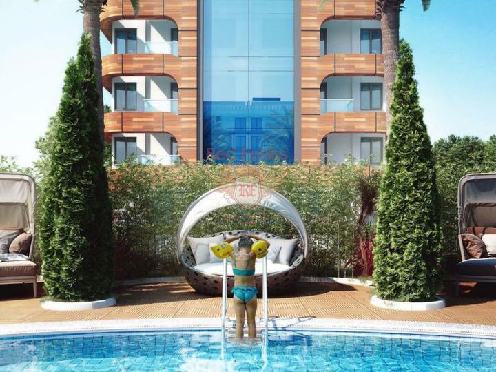 Квартиры дуплекс 3+1. Новый Жилой комплекс с аквапарком. Дидим, Квартира в Алтынкум Турция