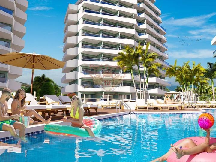 Двухуровневые апартаменты с 2 спальнями в Олюденизе – Турция, Квартира в Фетхие Турция