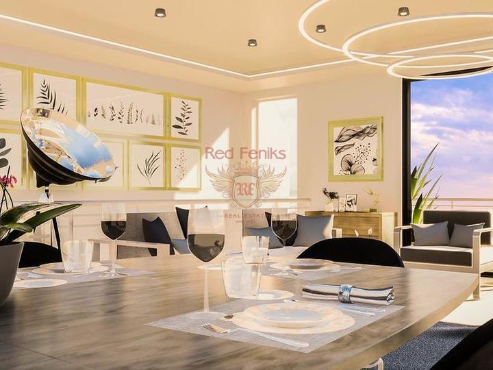Двухэтажная вилла 3+1 с площадью 186,5 кв.м в коттеджном поселке, купить виллу в Анталия