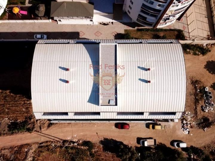 Off-plan apartments in Fethiye: 1 + 1 - 16 apartments 2 + 1 (1 bathroom) - 12 apartments 3 + 1 (2 bathrooms) - 8 apartments 4 + 1 (2 bathrooms) - 6 apartments No pool.