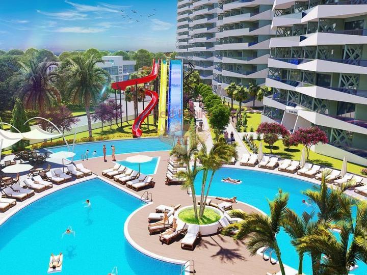 Двухуровневые апартаменты с 2 спальнями в Олюденизе – Турция, купить квартиру в Фетхие