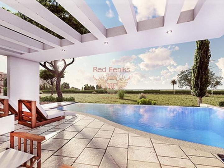 3-х спальные виллы + строительство + центральное отопление + кондиционер + расположение на берегу моря, купить дом в Кирения