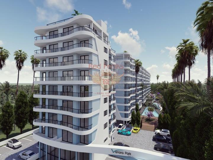 Двухэтажная вилла 3+1 с площадью 186,5 кв.м в коттеджном поселке, Дом в Анталия Турция