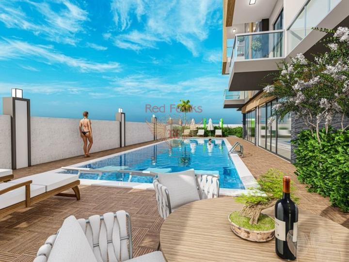 3 + 1 Триплекс Вилла с видом на море в Чалыше-Фетхие, купить дом в Фетхие