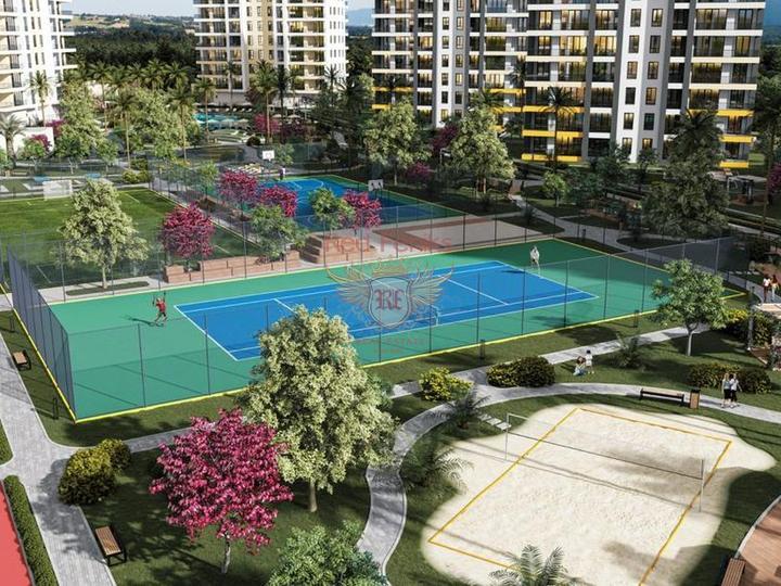 12 квартир 1+0 и 1+1 в Коньяалты 300 метрах от пляжа, Коммерческая недвижимость в Анталия Турция