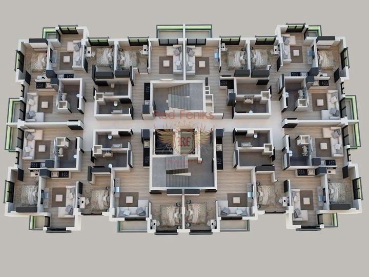 Квартиры в Анталии. Рассрочка 2 года!!!, купить квартиру в Алания