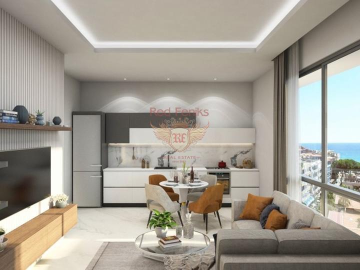 Neues Projekt, 2 + 1 Wohnungen (Maisonetten) in Oba, Alanya, Verkauf Wohnung in Alanya, Haus in Turkey kaufen