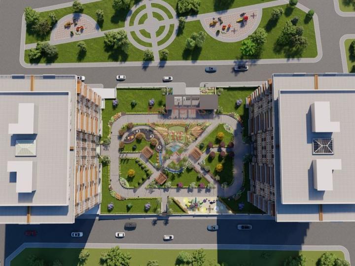 Neues Projekt, 2 + 1 Wohnungen (Maisonetten) in Oba, Alanya, Wohnung mit Meerblick zum Verkauf in Turkey, Wohnung in Alanya kaufen, Haus in Alanya kaufen