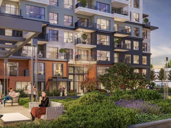 Квартиры 5+1 в новом комплексе, в регионе Анталия, купить квартиру в Анталия